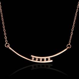 Collier Orné De Cristaux Swarovski Eléments Blanc Diamant