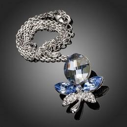 Collier Cristal Swarovski Eléments Bleu et Blanc Diamant