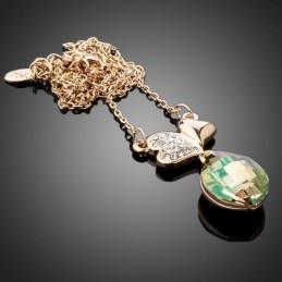 Collier Coeurs orné de cristaux Swarovski Eléments couleur Vitrail