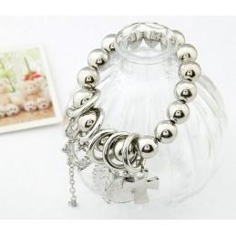 Bracelet argenté acrylique