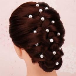 Pince Chignon Pic Barrette Épingle à Cheveux Mariage Perles Blanc d'Ivoire x10