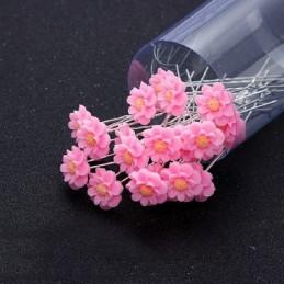 Pince Chignon Pic Barrette Épingle à Cheveux Mariage Rose Lot de 10