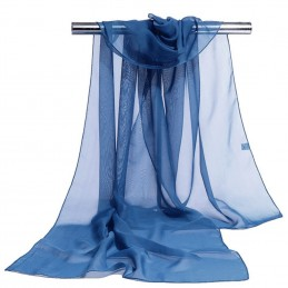 Foulard Mousseline Uni Bleu De Prusse
