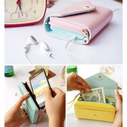 Porte monnaie Wallet Purse pour Iphone 4, 4S / 5, 5S +