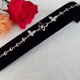 Bracelet zirconium blanc