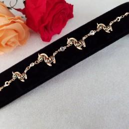 Bracelet Doré zirconium