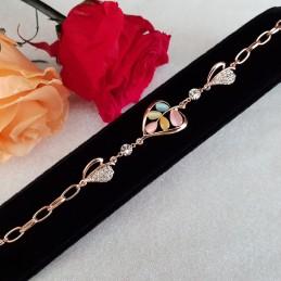 Bracelet Fleur Zirconium...