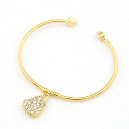 Bracelet Doré Pendentif Coeur